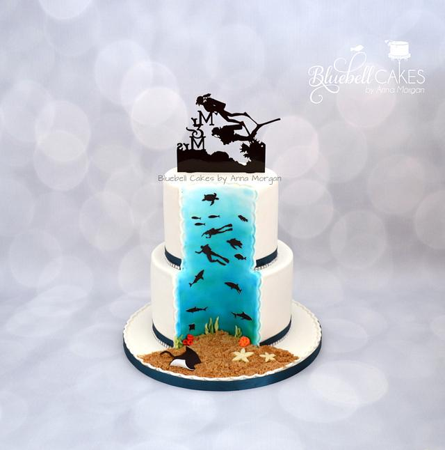Hidden Surprise Wedding Cake