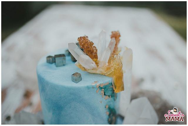 Minerals and Crystals Wedding Cake