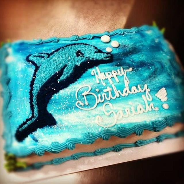 Prime Dolphin Birthday Cake Cake By Cakes By Rian Cakesdecor Funny Birthday Cards Online Alyptdamsfinfo
