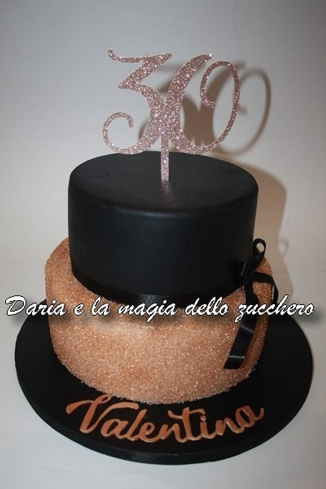 Fantastic Black And Rose Gold Cake Cake By Daria Albanese Cakesdecor Funny Birthday Cards Online Elaedamsfinfo