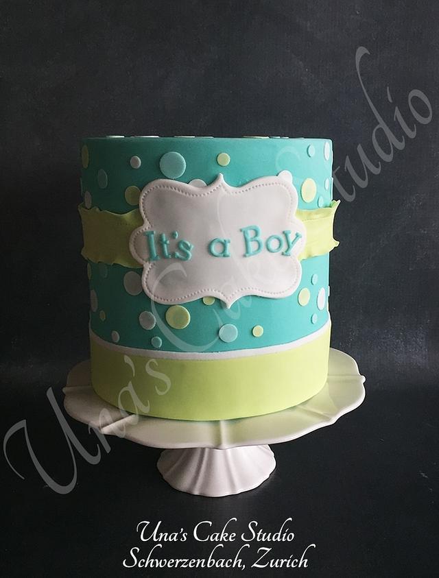 Baby Shower Cake - It's A Boy