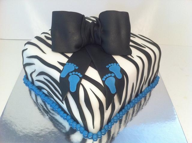 Zebra Baby Shower Cake and Minis
