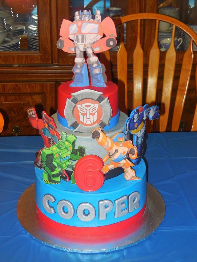 Groovy Rescue Bot 6Th Birthday Cake Cake By Daniellessweetside Cakesdecor Funny Birthday Cards Online Alyptdamsfinfo