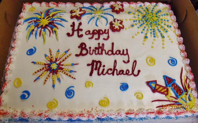 Superb Buttercream Fireworks Cake Cake By Nancys Fancys Cakesdecor Funny Birthday Cards Online Bapapcheapnameinfo