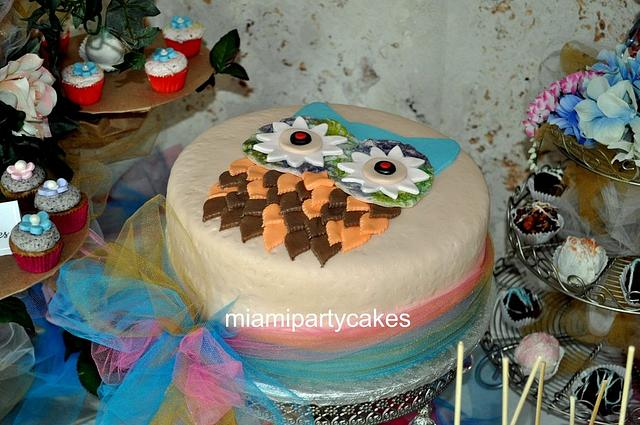 Enchanted Owl Cake