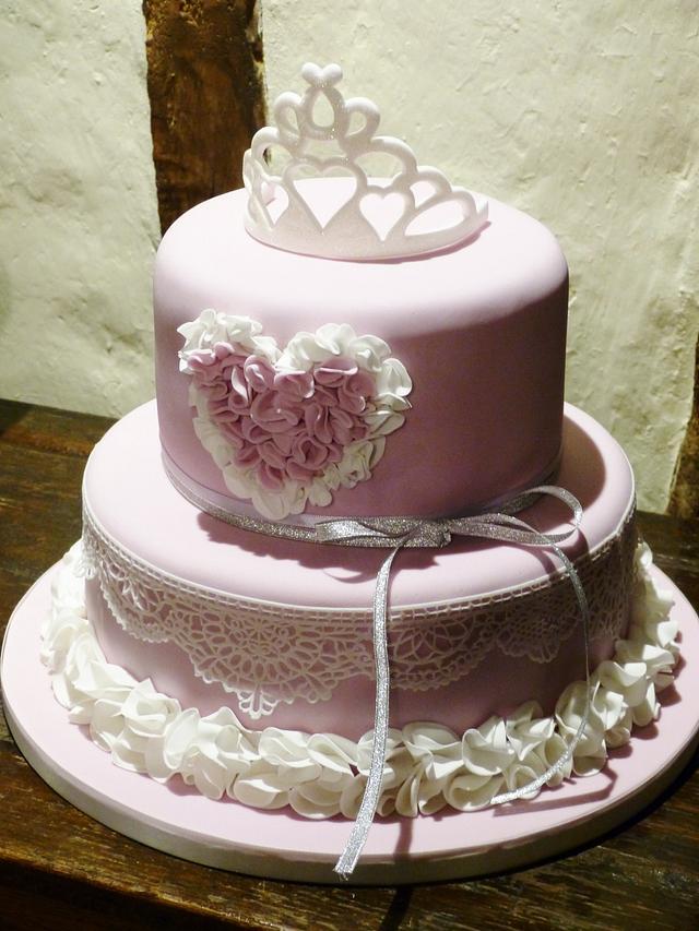 Groovy Tiara Cake For 18Th Birthday Cake By Angel Cake Design Cakesdecor Personalised Birthday Cards Petedlily Jamesorg