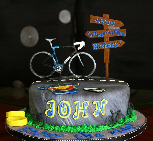 Biker's Milestone Birthday Cake