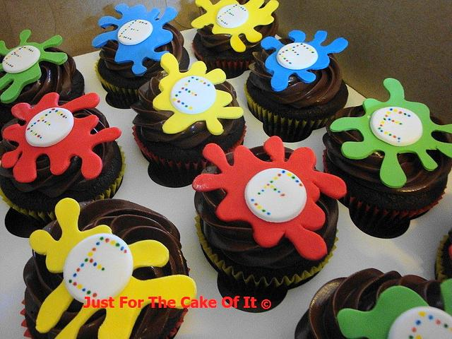 Paintball Cupcakes