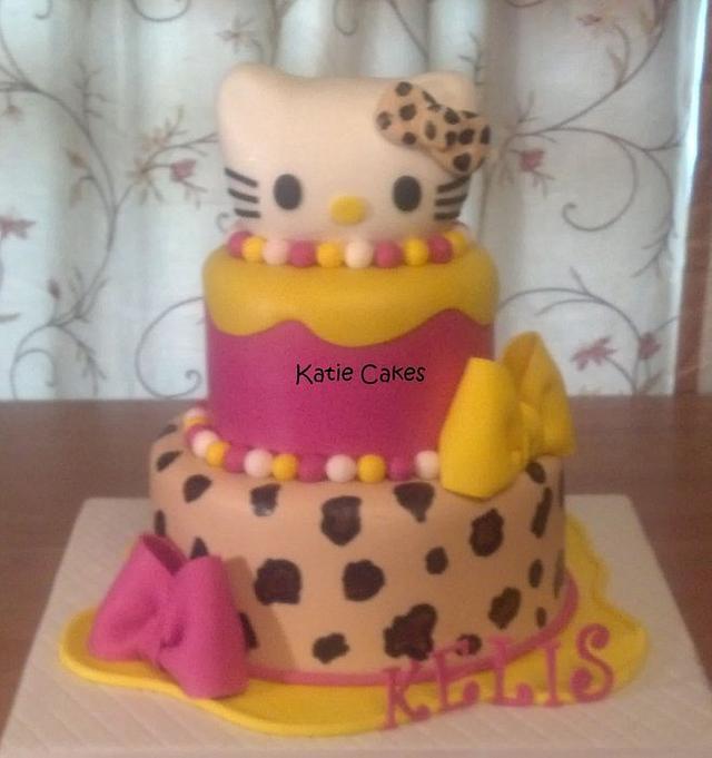 Leopard Hello Kitty Cake