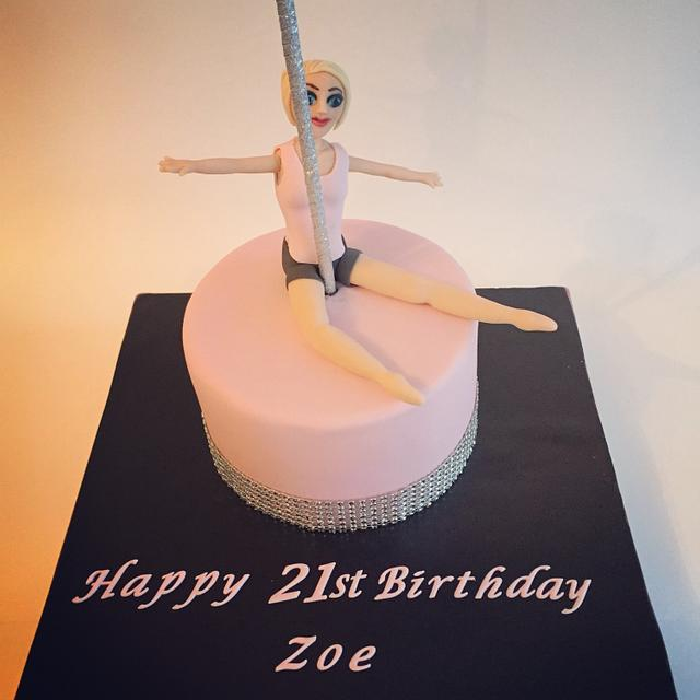 Pole dancing cake