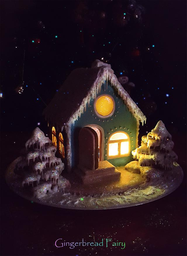 Winter gingerbread house