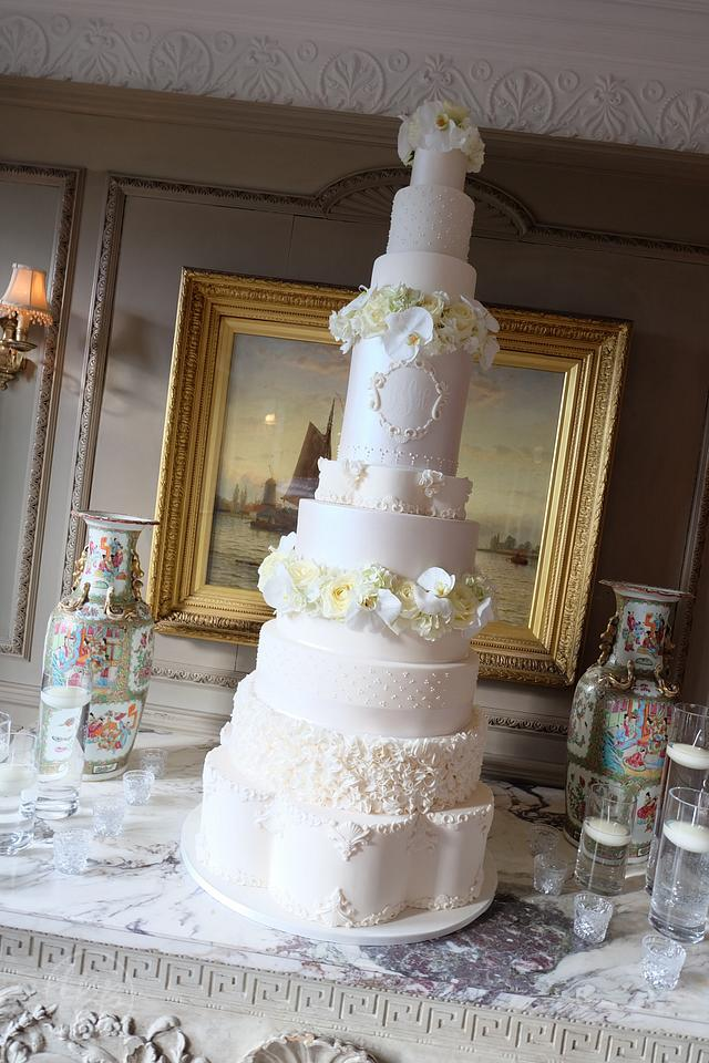 "10 Tier 5 foot 2"" tall Wedding Cake"