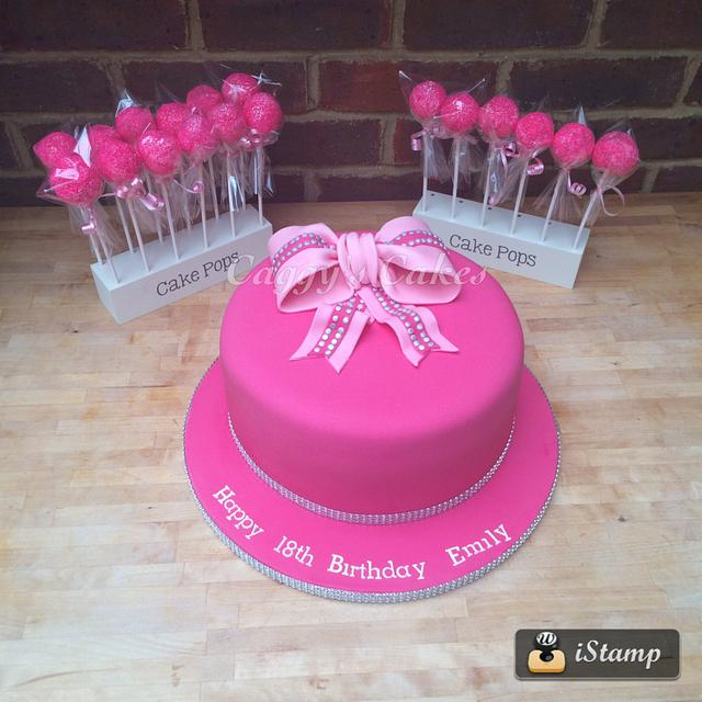 Pleasing Hot Pink 18Th Birthday Cake Cake By Caggy Cakesdecor Funny Birthday Cards Online Overcheapnameinfo