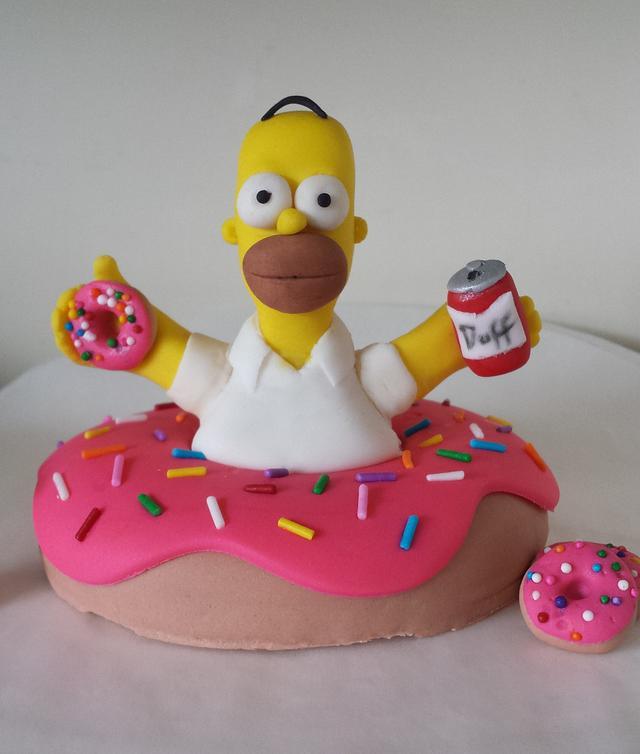Peachy Homer Simpson Cake Topper Cake By Jenn Szebeledy Cakesdecor Funny Birthday Cards Online Sheoxdamsfinfo