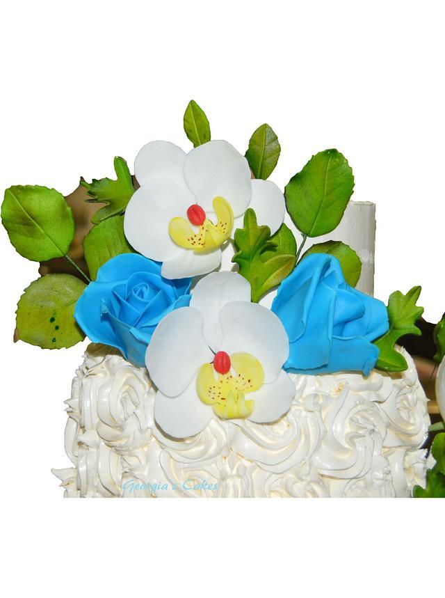 Swiss merengue buttercream wedding cake