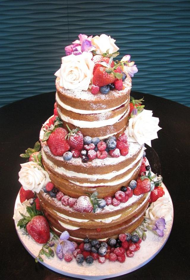 fruity any natural wedding cake