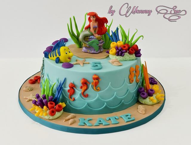 Cool Little Mermaid Cake Cake By Mommy Sue Cakesdecor Funny Birthday Cards Online Elaedamsfinfo