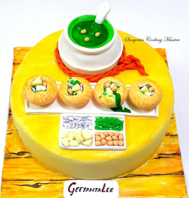 Golgappa/fuchka/pani puri cake
