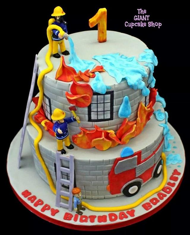 Incredible Fireman Sam Friends Cake By Amelia Rose Cake Studio Cakesdecor Funny Birthday Cards Online Alyptdamsfinfo