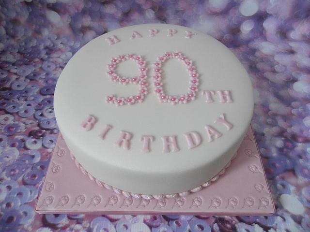 Astounding 90Th Birthday Cake Cake By Karens Cakes And Bakes Cakesdecor Funny Birthday Cards Online Inifofree Goldxyz