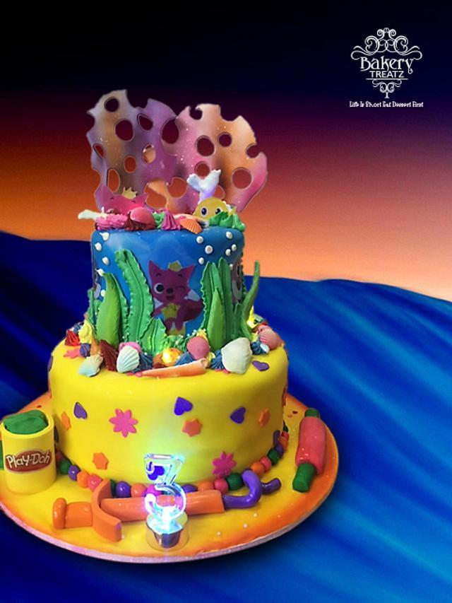 Under the Sea Playdoh Cake