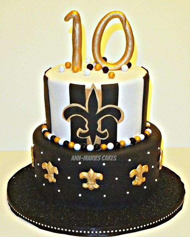 Fabulous Girlie New Orleans Saints Birthday Cake Cake By Cakesdecor Personalised Birthday Cards Cominlily Jamesorg