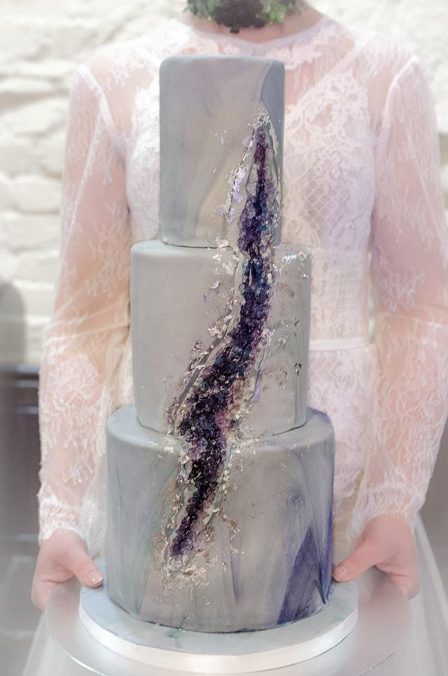 Geode Marble Wedding Cake