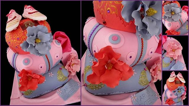 Sweet sixteenth Royal sleepover pillow cake