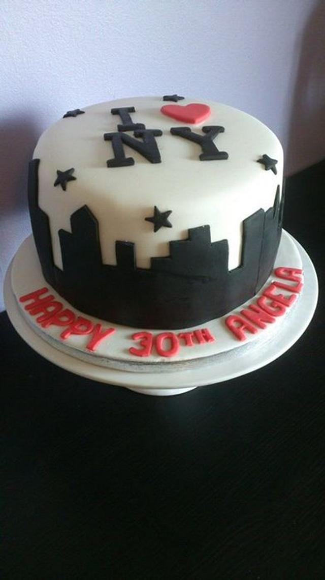 Brilliant New York Birthday Cake Cake By Rosewood Cakes Cakesdecor Funny Birthday Cards Online Elaedamsfinfo