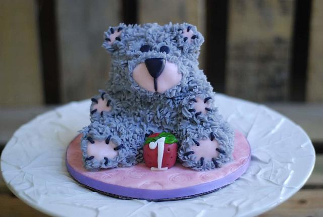 Mini bear smash cake