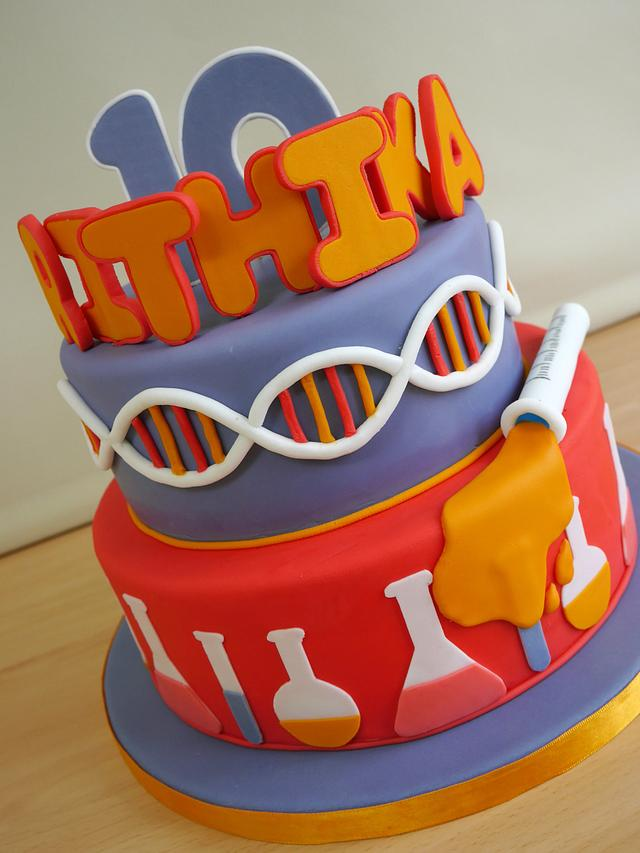 Enjoyable Mad Science Birthday Cake Cake By Harrys Cakes Cakesdecor Birthday Cards Printable Inklcafe Filternl