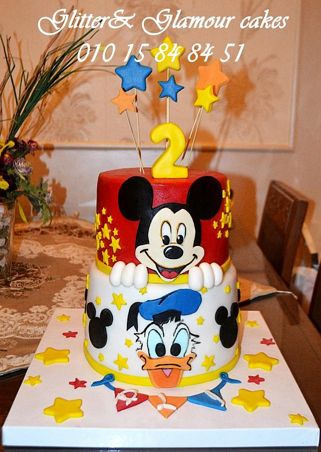 Prime Mickey Mouse And Donald Duck Cake By Etho Cakesdecor Funny Birthday Cards Online Elaedamsfinfo