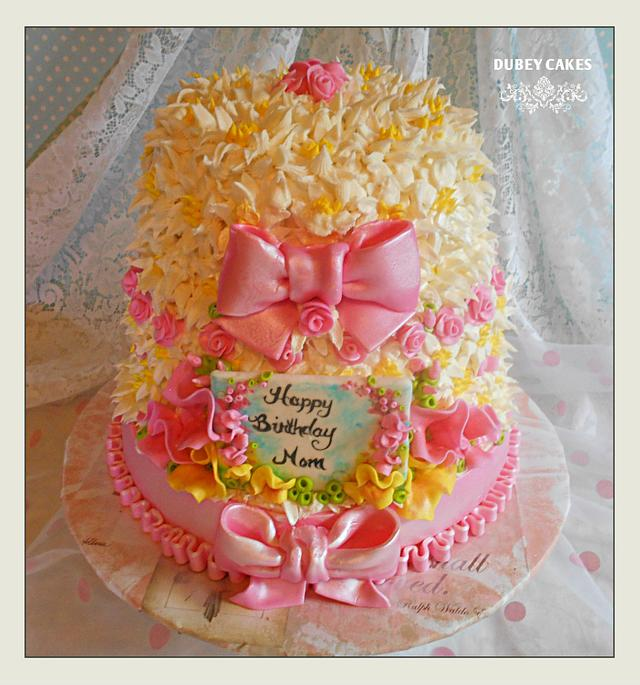 Wondrous Happy Birthday Mom Cake By Bethann Dubey Cakesdecor Personalised Birthday Cards Veneteletsinfo