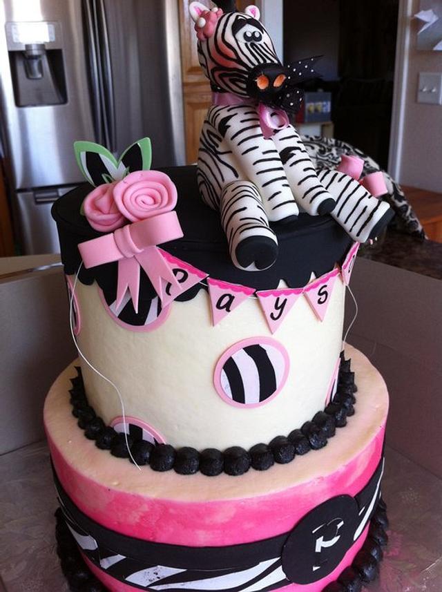 Baby zebra cake