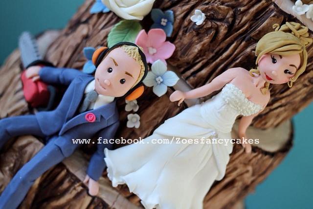 Tree wedding cake :)