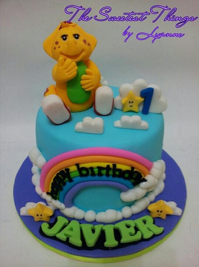 Prime Rainbow Cloud Bj Cake Cake By Lyanne Cakesdecor Funny Birthday Cards Online Sheoxdamsfinfo
