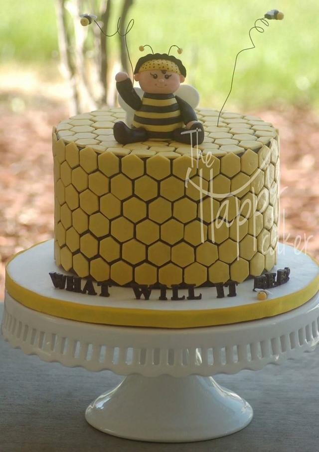 What will it bee? Baby shower cake