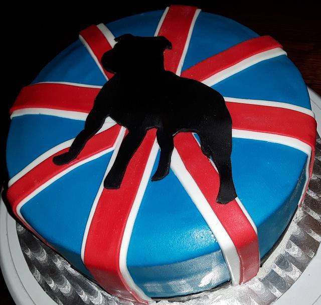 Staffordshire Bullterriër cake.