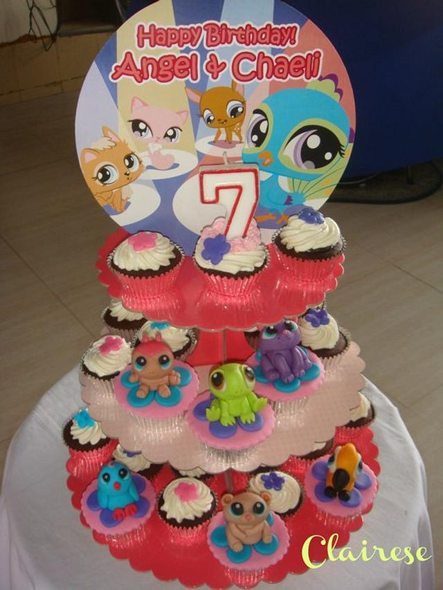 Admirable Littlest Pet Shop Theme Cupcakes Cake By Anncriezl Cakesdecor Funny Birthday Cards Online Elaedamsfinfo