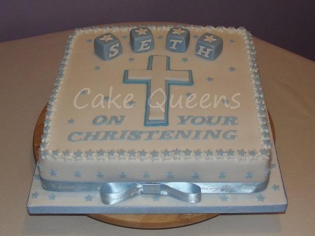 Little Boy's Christening Cake