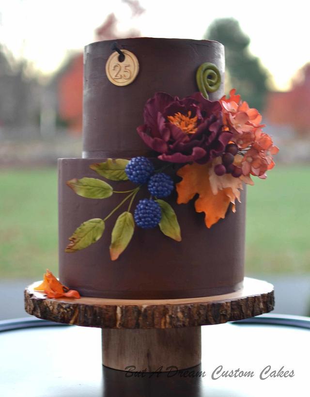 Rich color foliage cake