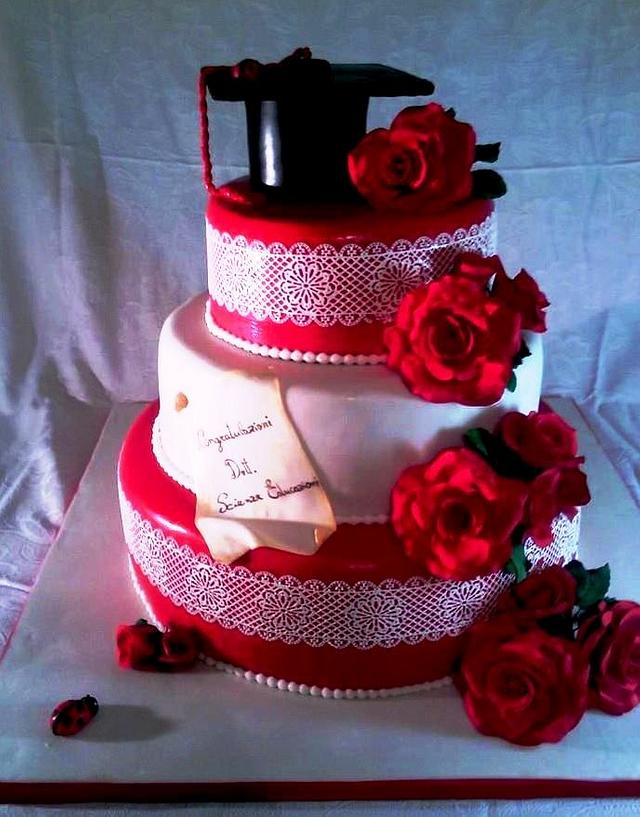 cake red roses