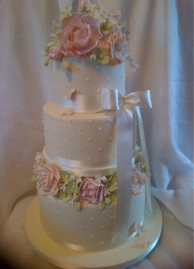 Springtime Wedding Cake.