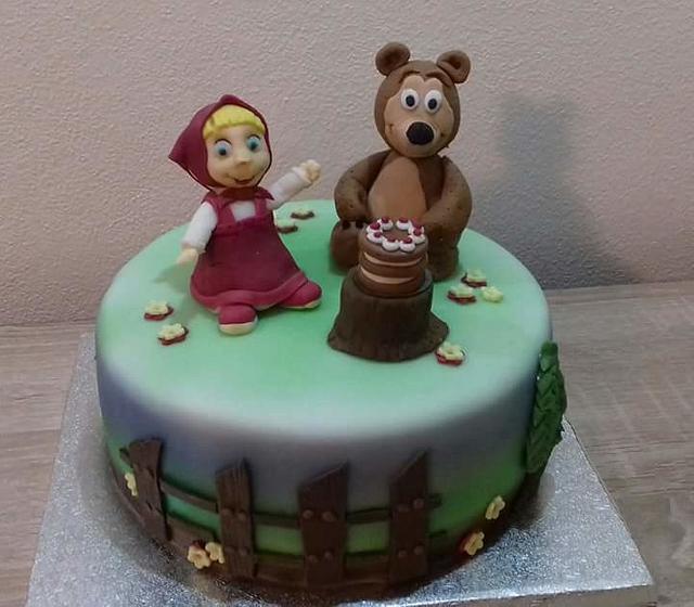 Masha and the bear children cake