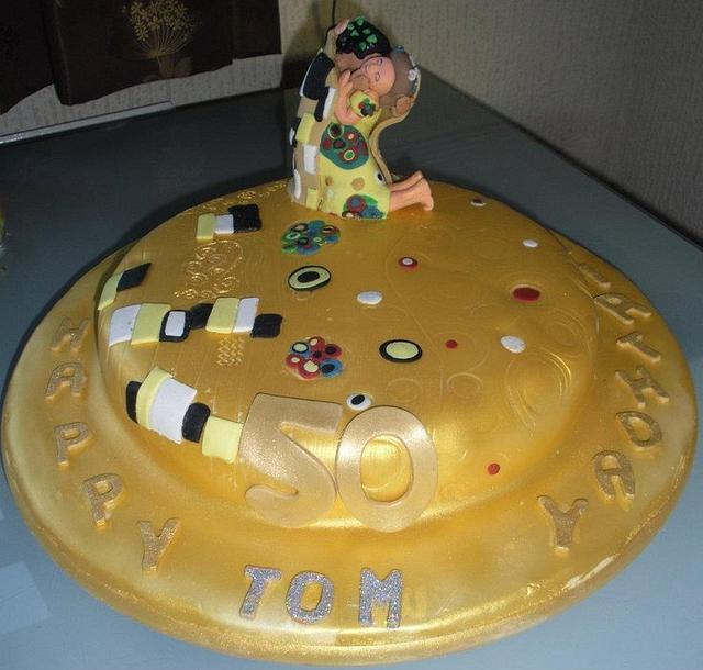 "Klimt ""The Kiss"" 50th Birthday Cake"