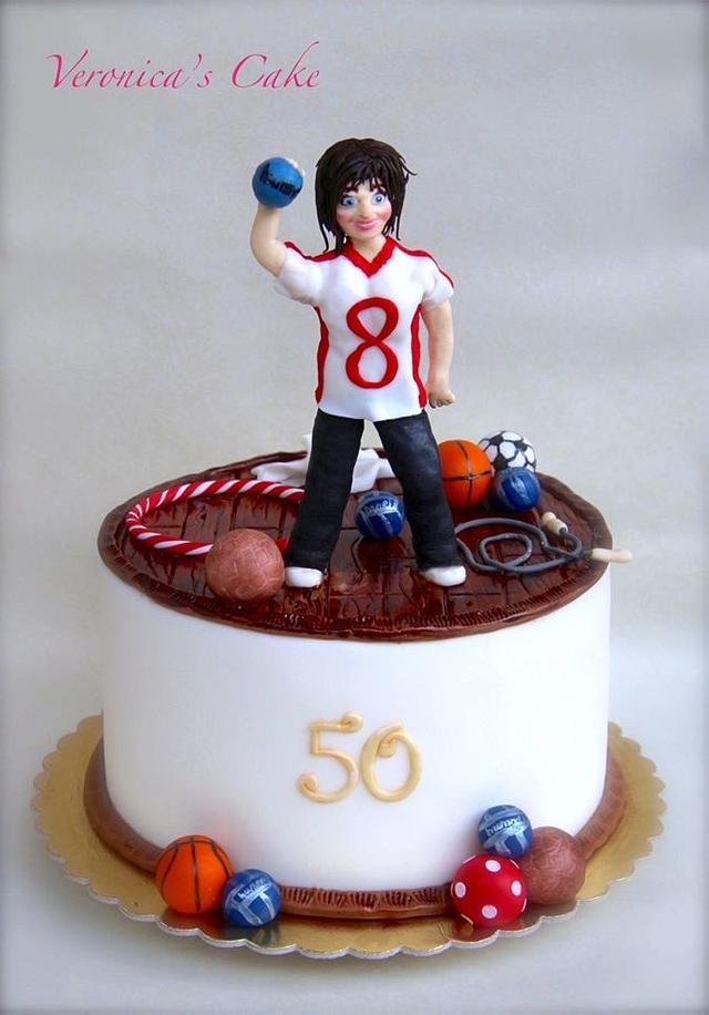 P.E. teacher cake