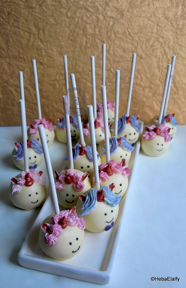 Unicorn Cake Pops for class party