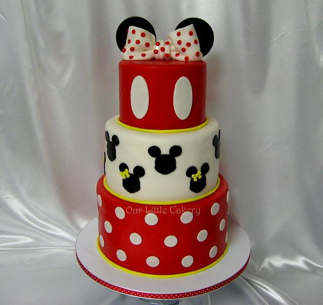 Pleasing Minnie Mickey Birthday Cake Cake By Gizangel Cakesdecor Personalised Birthday Cards Vishlily Jamesorg