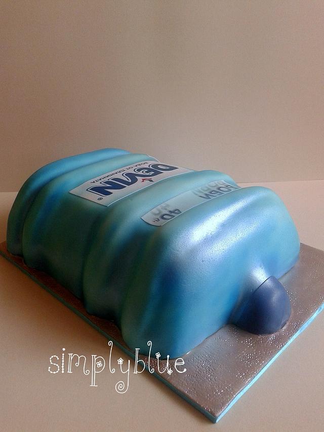 Bottled water cake