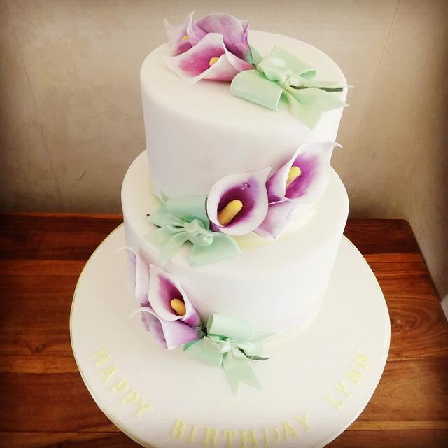Calla Lillies birthday cake